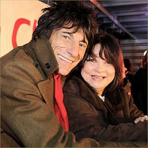 Ronnie Wood and Françoise Pascal