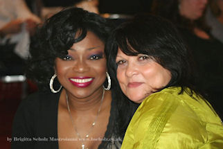 Patti Boulaye and Françoise Pascal at the event